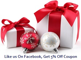 Like Us on Facebook 5% Off
