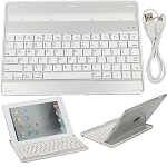 Ultrathin Bluetooth 3.0 Wireless Keyboard Mobile Dock front case for iPad 4th 3 2 Gen White