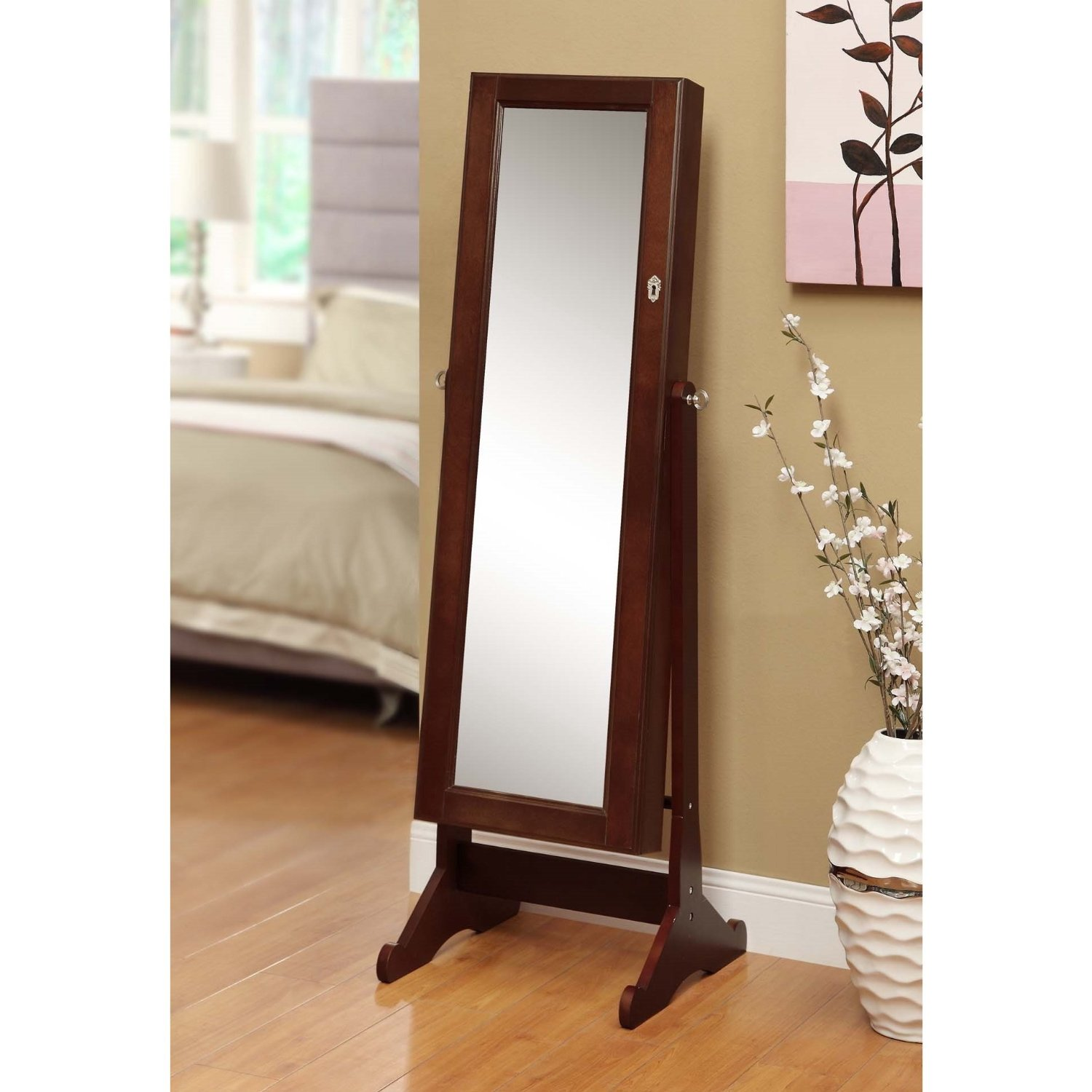 Cheval mirror jewelry cabinet armoire for Mirror jewellery cabinet