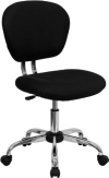 Black  Mesh Mid back Swivel Office Desk Task Chair Chrome base