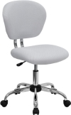 White Mesh Mid back  Swivel Office Desk Task Chair Chrome base