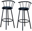 29-inch Black Finish Swivel Dining Bar Stool Chairs (Set of two)