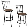 29-inch Black Adjustable Metal Swivel Counter height Bar stools (Set of Two)