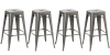 30-inch Industrial Metal Vintage Gunmetal Clear Metal Brush   Bar Stool Modern (Set of 4 barstool)