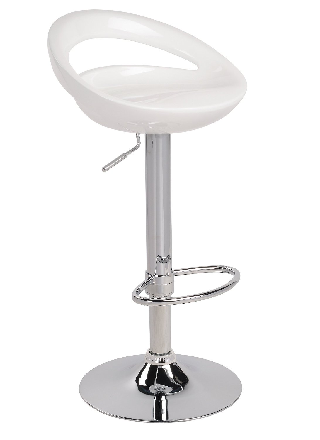 White Air Lift Adjustable Stools Swivel Bar Stool With A  : AM5005W from richbattery.com size 1092 x 1500 jpeg 59kB