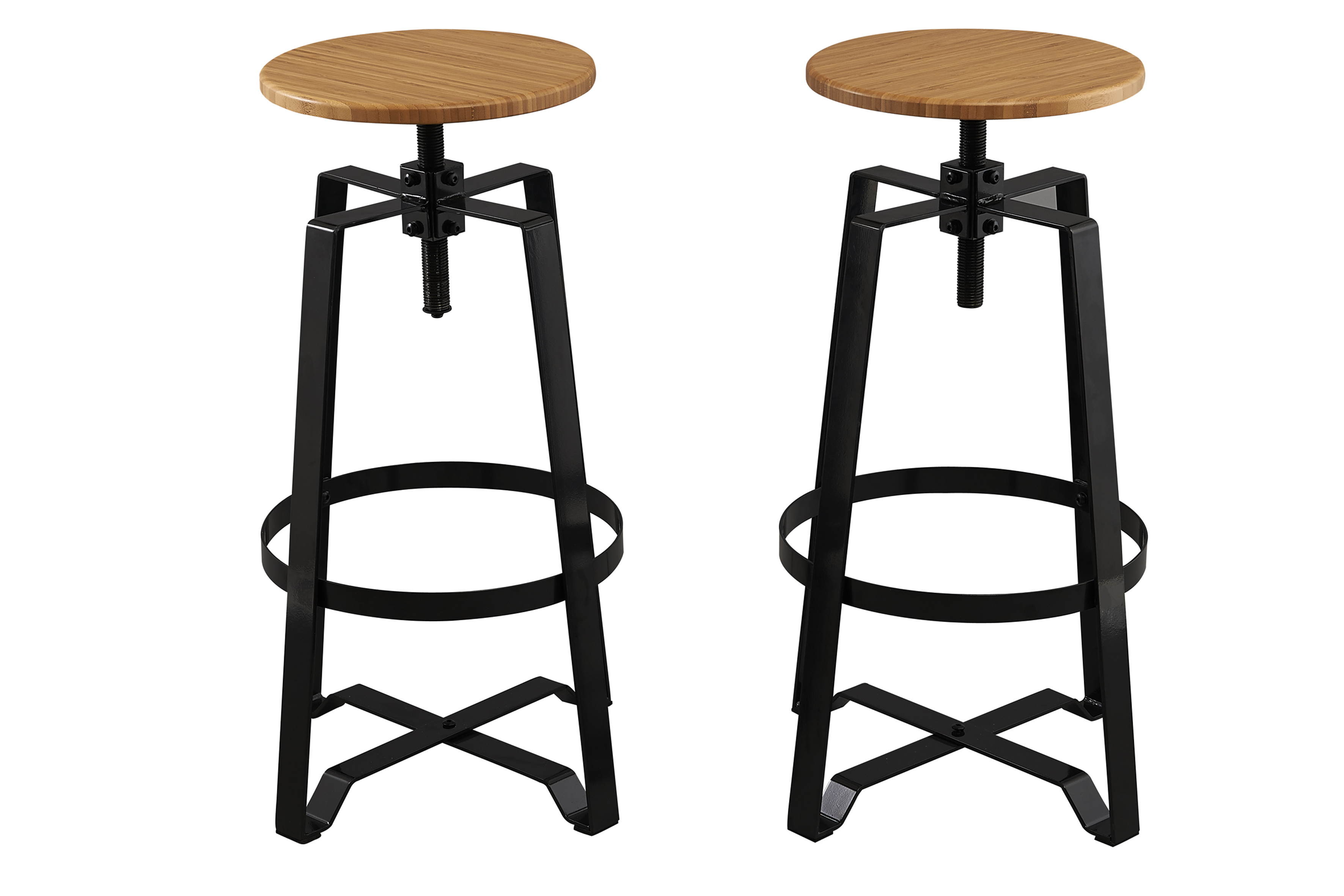 BTExpert Solid Steel Stacking Industrial Black Tabouret Dining ...