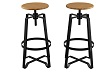 Solid Steel Stacking Industrial Black Tabouret Dining room Modern Steel Metal Chair with Arms (set of 2) (set of 2)