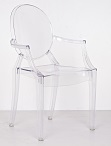 Clear   Dining Chair with arms  (Set of two)