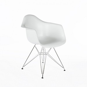 Plastic Chair DSW Retro Dining Chair with arms and chrome leg
