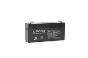 Battery for 6 Volt 3.4 ah 6v 3.4a UB634 Emergency Lighting